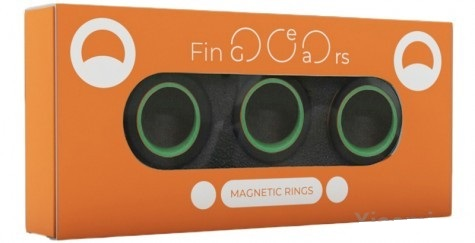 Магнитные кольца FinGears Magnetic Rings Sets Size M Black-Green