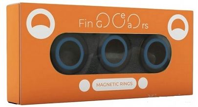 Магнитные кольца FinGears Magnetic Rings Sets Size M Black-Blue