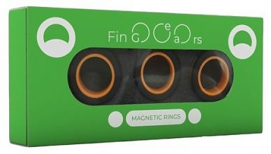 Магнитные кольца FinGears Magnetic Rings Sets Size S Black-Orange
