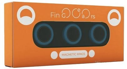 Магнитные кольца FinGears Magnetic Rings Sets Size M Blue-Black