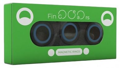 Магнитные кольца FinGears Magnetic Rings Sets Size S Black-Blue
