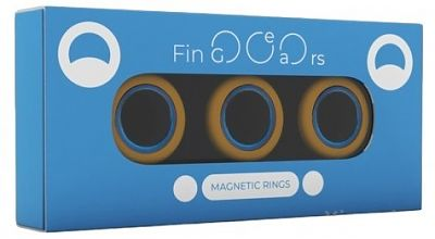 Магнитные кольца FinGears Magnetic Rings Sets Size L Orange-Blue