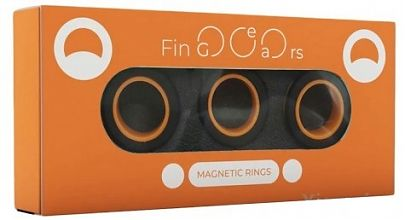 Магнитные кольца FinGears Magnetic Rings Sets Size M Black-Orange