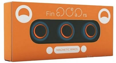 Магнитные кольца FinGears Magnetic Rings Sets Size M Blue-Orange